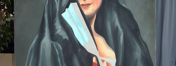 Gemaelde – Frau mit Fächer