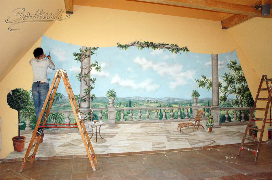 Wandbild Malen Mit Beamer : Atelier Botticellis  Theaterausstattung, Skulptur & Kunst